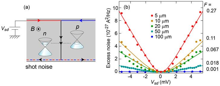 量子ホール効果領域におけるグラ...